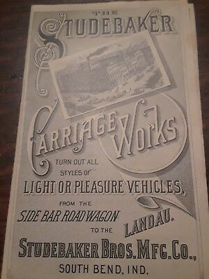 Antique advertisement Studebaker Carriage Works S.F.Cali.
