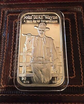 John Wayne 1978 Greathouse,#165,rev Type 4A. .999 Silver Bar