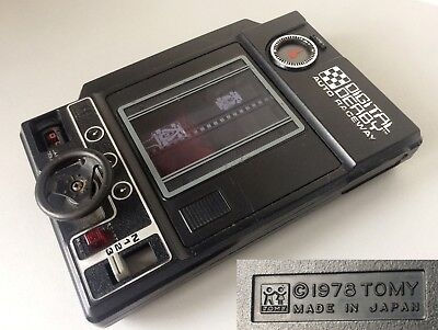 RARE retro 1970's EARLY TOMY JAPAN 'DIGITAL DERBY' HANDHELD ELECTRONIC GAME 1978