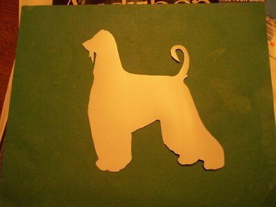 Exquisite Afghan Hound Car Magnet Hand Cut and Painted You pick style color