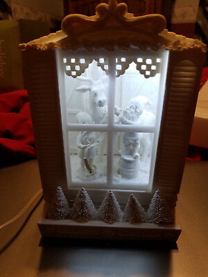"Department 56 Holiday Silhouettes ""Ready to Fly"" in Box!  Lighted Scene"