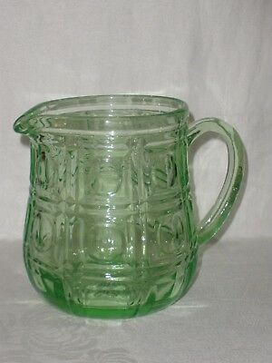 Vintage GREEN GLASS JUG Very Good Condition