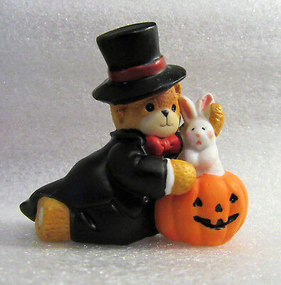 Lucy & Me ~ Magician Magic Rabbit out of a Pumpkin ~ Figurine
