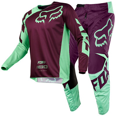 New FOX Racing MX 2018 180 RACE GREEN Mens Motocross Jersey & Pants Outfit Moto