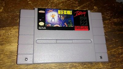 Out of This World Super Nintendo SNES Cleaned Tested Works