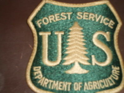 70s Vtg US DEPARTMENT OF AGRICULTURE FOREST SERVICE Shirt/Jacket/Uniform Patch