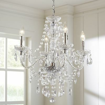 Ice Palace 4-Light Crystal Chandelier Clear Glass
