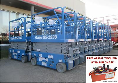 NEW GENIE GS-1930 19 Ft. Electric Scissor Lift - FLAT RATE SHIPPING!!!