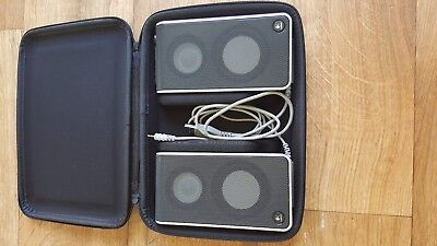 LOGITECH V20 USB PORTABLE LAPTOP NOTEBOOK SPEAKERS S-0155A with case