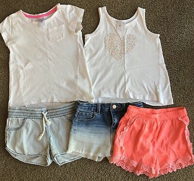 Girls Mixed Shorts & Tees Size 5 & 6 **GUC**