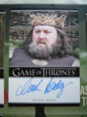 Game of thrones season 1 Mark Addy as King Robert Baratheon Autograph Bordered