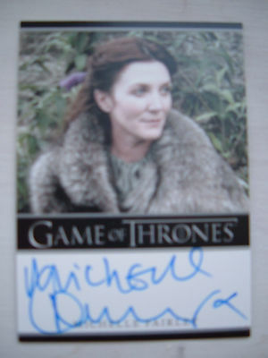 Game of thrones season 1 Michelle Fairley Catelyn Autograph auto Bordered