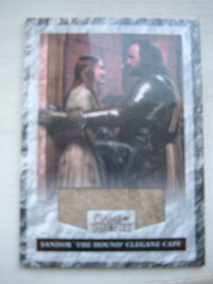 Game of thrones season 3 Relic Costume Card The Hound Cape R2 100/325