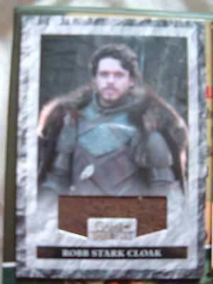 Game of thrones season 3 Robb Stark Relic Card R1 Richard Madden costume