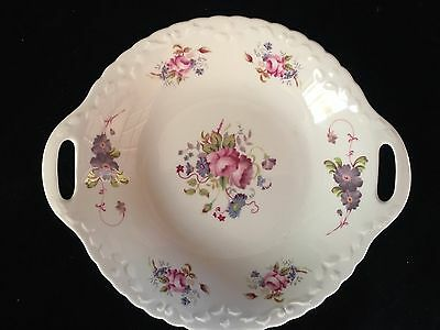 Vintage COALPORT Shrewsbury ENGLAND Fine Bone China Scalloped Twin Handled Dish