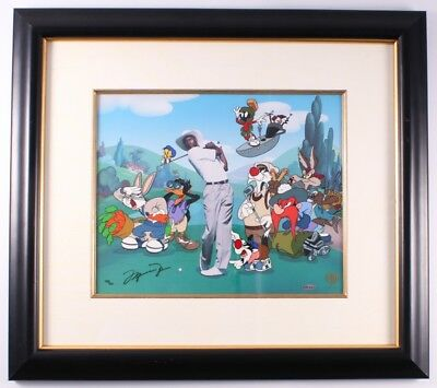 "Michael Jordan Signed Space Jam ""FORE!"" ""...FIVE!...""   Rare Animation Cel"