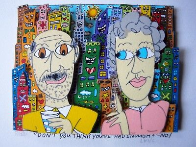 "James Rizzi ""don't you think you've had enough? ""-no! 3D-Konstruktion, signiert"