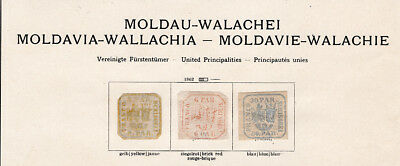 ROMANIA (MOLDOVIA-WALACHIA) MH - Stumbletts collections