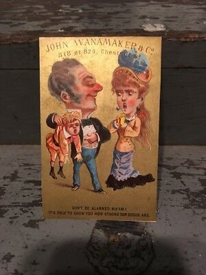 Early 1880s Trade / Blotter Card John Wanamaker Department Store PHILLY