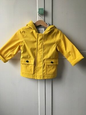 Yellow Raincoat 9 - 12 Months Marks And Spencer