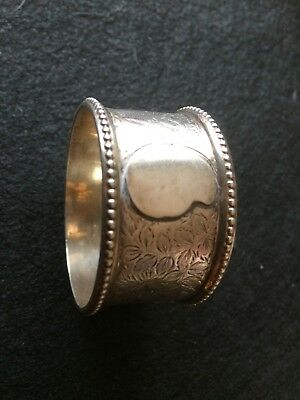 Solid Silver Antique Napkin Ring