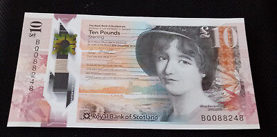 10 Pfund / Pounds (GBP) Polymer Royal Bank of Scotland ++ UNC ++