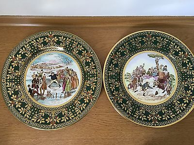 Pair of Caverswall Christmas Plates L/ed  1979 and 1981 by John Ball