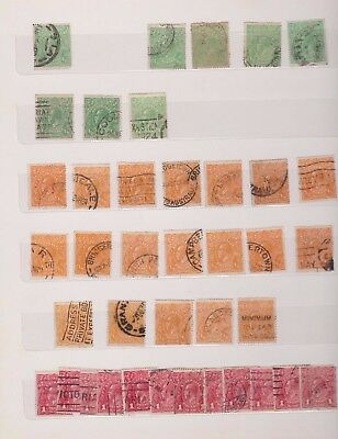 ALBUM FULL OF KGV STAMPS 1/2d to 5d - APPROX *450 STAMPS - AS PER 12 SCANS