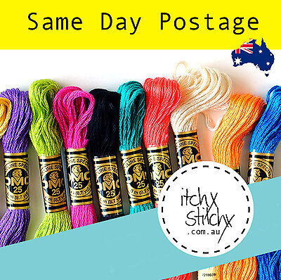 30 x Original DMC Stranded Embroidery Floss Thread Skein - Pick Your Own Colours