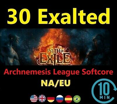 30 x Exalted Orb - DELVE League ( Path of Exile EU/NA POE Softcore) 3.4 Orbs BP