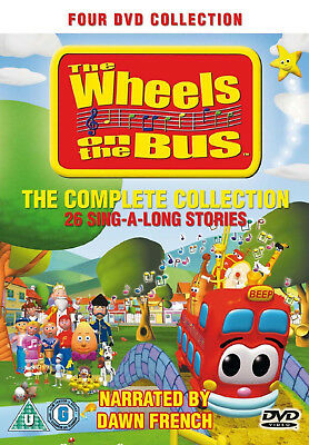 The Wheels on the Bus - Complete - Childrens Nursery Rhymes - 4DVD SET NEW