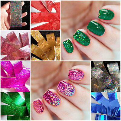 7 X ABSTRACT Holographic Nail Art Foil Decoration Wrap Transfer Sticker