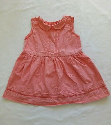 Sprout baby Girls Dress size 0 Apricot Button Back Collar