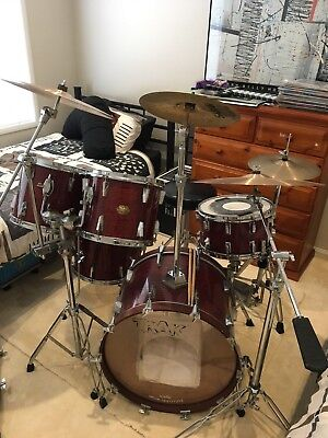 TRAK Drum kit with Pearl Snare and Accessories, Paiste, Sabian, Zildjian cymbals