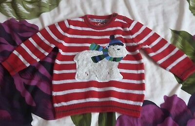 baby boys christmas jumper 12 18 months used