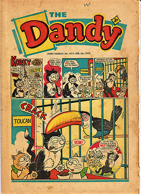 DANDY 1965  x 3 comics issues # 1211 1212 1244 (February and September)