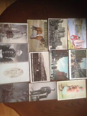 4 postcard albums containing 250 postcard of topographical , military postcards