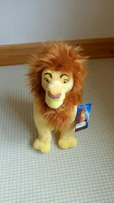 Disney Store Plush Mufasa Perfect Condition With Tag