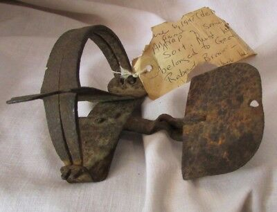 Original Old totally hand forged Handmade Antique Vintage Steel Animal Trap