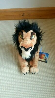 Disney Store Plush Scar Perfect Condition With Tag