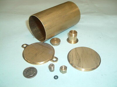 "Model Hit and miss Gas engine Brass Fuel Tank Kit 1-3/4"" Diameter"