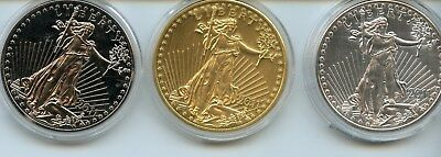 2011 Gold Eagle Set Of 3 Coins (Layered)