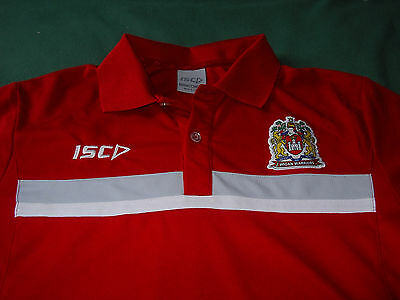 Isc - Wigan Warriors Red Polo Shirt Size M