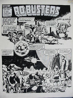 Mike McMahon Ro-busters original art 2000AD