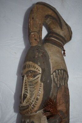 "Orig $399- Papua New Guinea, Roof Totem, Hdwd. 1900S 30"" Provenance"