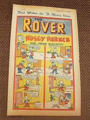Rover comic No1073 CHRISTMAS issue December 25th 1943 Rare Beano Dandy War Time