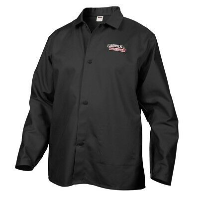 Lincoln Electric Black Large Flame-Resistant Cloth Welding Jacket FREE SHIPPING