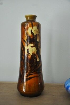 Antique Art Nouveau Vase Decorated Iris Rookwood Pottery