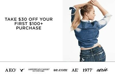 American Eagle Outfitter - $30 Off $100 Coupon Code  Exp 12/30 *dvrd W/in 2 Hrs*