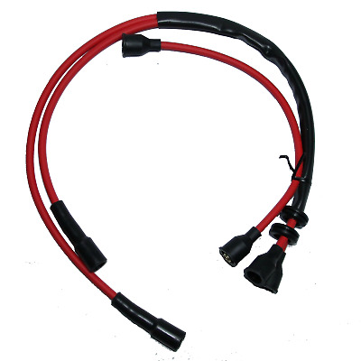 CLASSIC FIAT 500 F L R SILICONE HT LEADS SPARK PLUG LEADS IGNITION 7mm RED NEW